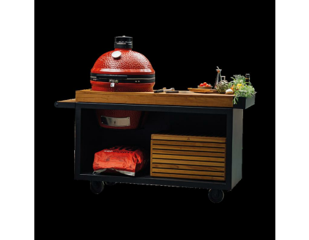 OFYR Kamado Table Black 135 PRO Teakwood KJ